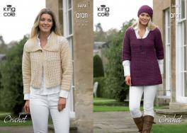 "3474 Crochet Pattern - Double Knit 32"" - 44"" Ladies*"