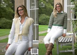 "3475 Crochet Pattern - Double Knit 32"" - 44"" Ladies*"