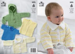 3476 Crochet Pattern - Double Knit 12-22