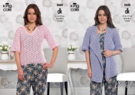 3542 Crochet Pattern - Double Knit 32