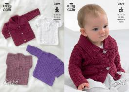 "3479 Crochet Pattern - Double Knit 14-24"" Newborn to 4 years*"