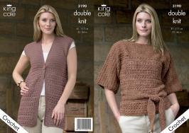 """3190 Crochet Pattern - DK 32"""" - 46"""" Ladies*"""