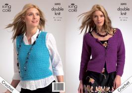 """3092 Crochet Pattern - Ladies DK 32"""" - 46""""*"""