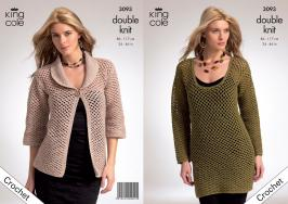 3093 Crochet Pattern - Ladies Double Knit 34