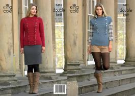"3451 Knitting Pattern - Ladies Double Knit 32"" - 42""*"