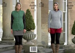 "3452 Knitting Pattern - Ladies Double Knit 32"" - 42""*"