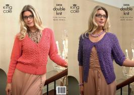 "3456 Knitting Pattern - Ladies Double Knit 28/30 - 44/46""*"