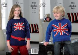 "3466 Knitting Pattern - Boys/Girls 24"" - 30""*"