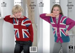 "3467 Knitting Pattern - Boys/Girls Double Knit 24"" - 30""*"