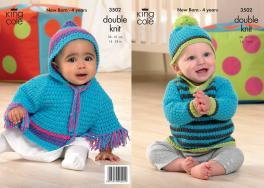 3502 Knitting Pattern - Babies DK 14