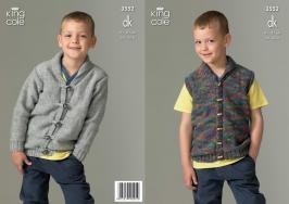 3552 Knitting Pattern - Boys DK 24