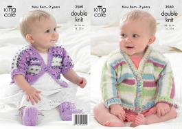 3560 Knitting Pattern DK - New Born - 2 Years*