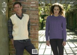 "3535 Knitting Pattern Aran - 28/30 - 44/46"" Mens & Ladies*"
