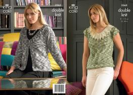 3563 Knitting Pattern DK - Ladies 32 - 44 ins*