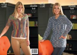 3562 Knitting Pattern DK - 32 - 44 ins Ladies