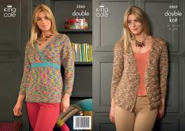 3565 Knitting Pattern DK - Ladies 32 - 42