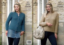 3572 Knitting Pattern Super Chunky - 28/30 - 44/46*