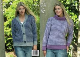 3622 Knitting Pattern Chunky - 32 - 48 ins Ladies