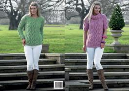 3574 Knitting Pattern Super Chunky - 28/30 - 44/46ins*