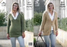 3575 Knitting Pattern Super Chunky - 28/30 - 44/46 in Ladies*