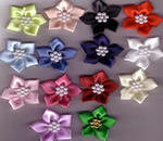 Ribbon Flower with Pearls