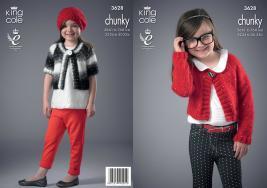3628 Knitting Pattern Chunky - Girls 22/24 to 30/32