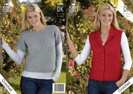 """3006 Crochet Pattern DK - Ladies 32"""" - 46""""*"""