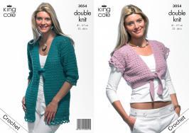 """3054 Crochet Pattern DK - Ladies 32 - 46""""*"""