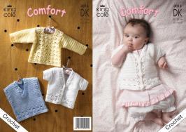 """3015 Crochet Pattern DK - Babies 12 - 20""""*"""