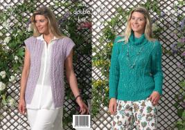 "3634 Knitting Pattern - Ladies Double Knit 30"" - 44""*"