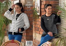 3585 Knitting Pattern DK - Womens 32 - 34