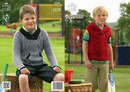 3599 Knitting Pattern Aran - Boys 24