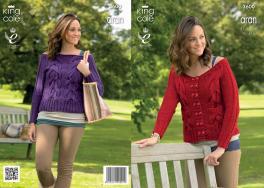 3600 Knitting Pattern Aran - Ladies 32