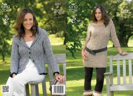 3601 Knitting Pattern Aran - Ladies 32