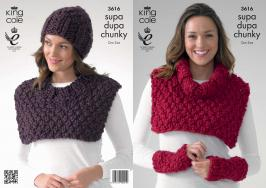 3616 Knitting Pattern Ladies - Supa Dupa Chunky