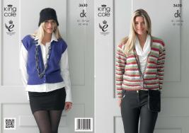 3630 Knitting Pattern DK - Ladies 32 - 42 ins