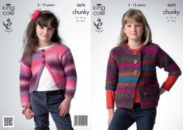 3670 Knitting Pattern Chunky - 24