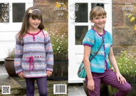 3666 Knitting Pattern DK - Girls 24 - 32