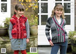 3665 Knitting Pattern DK - Girls 24 - 32