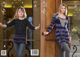 3671 Knitting Pattern DK - Girls & Ladies 24 - 46