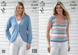 "3694 Knitting pattern Double Knit - Ladies 32 - 44""*"