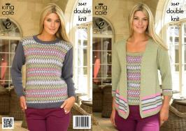 3647 Knitting pattern Double Knit - Ladies 34 - 44