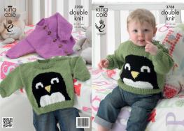 3708 Knitting Pattern Double Knit - Babies 12 - 20