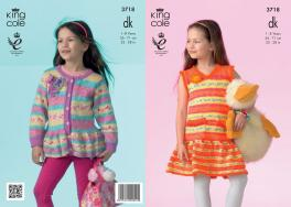 3718 Knitting Pattern DK - Girls 1-8 Years (Splash)