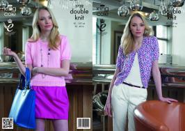 3732 knitting Pattern DK - Ladies 32 - 42