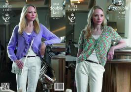 3731 Knitting Pattern DK - Ladies 32 - 42