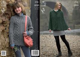 "3745 Knittting Pattern Aran - 28-46"" Ladies & Girls*"