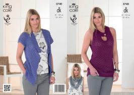 3740 Knittting Pattern DK - 32-42