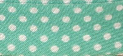 Bias Binding Jade Green with White Spots 67 - 20mm Wide