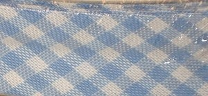 Blue & White (16) Checked Bias Binding  - 18mm Wide